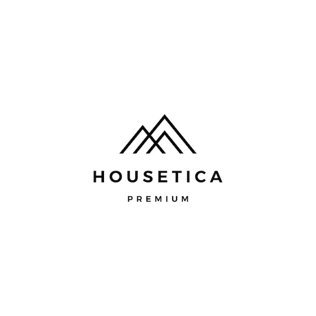 House home mortgage roof architect logo Premium Vector
