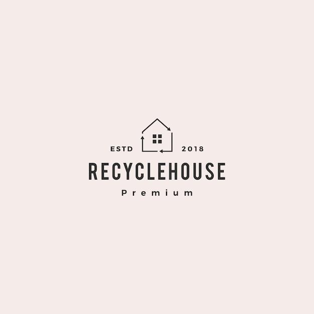 House home recycle logo vector icon Premium Vector