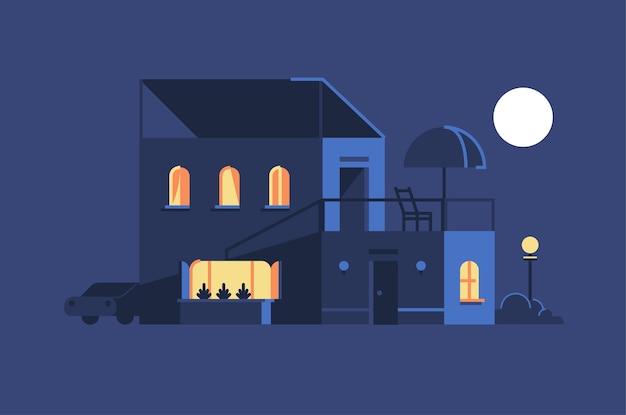 House illustration Premium Vector