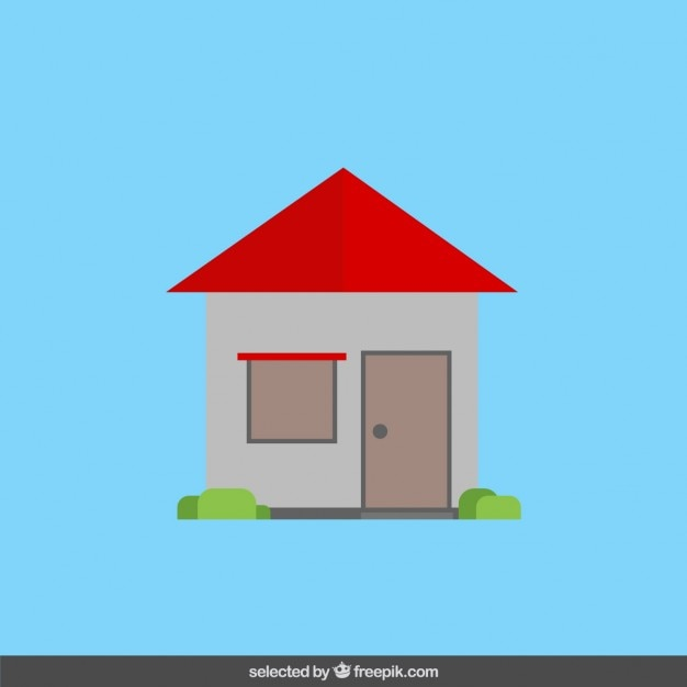 House In Flat Design Vector