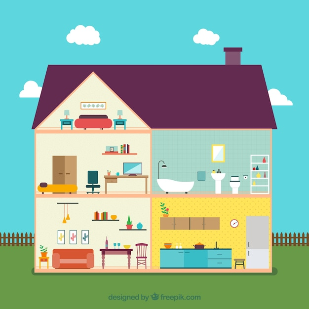 House Interior Free Vector