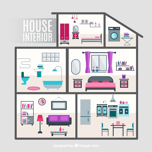 House Interior Vector Free Download