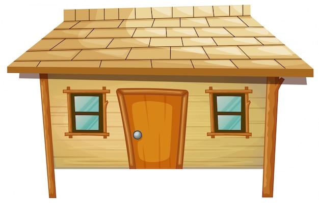 Casa in legno isolata Vettore gratuito