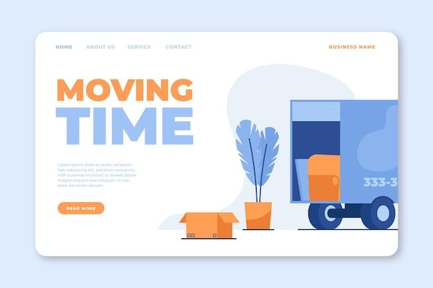 Стиль целевой страницы услуг по переезду домов Бесплатные векторы