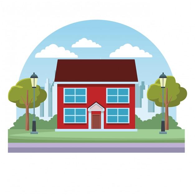 House real estate Premium Vector