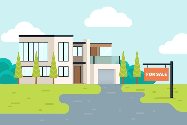 House for sale/for rent Free Vector