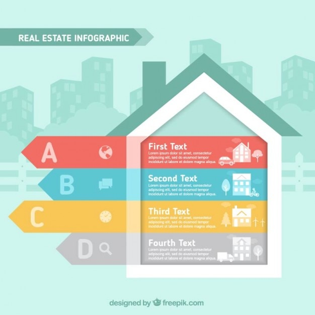 House Shape Infographic Vector Free Download