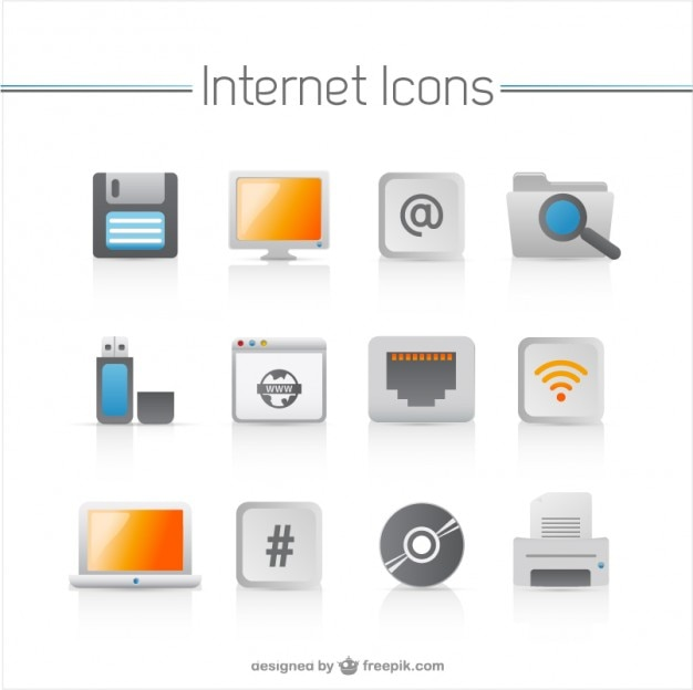 household appliances icons   vector Free Vector