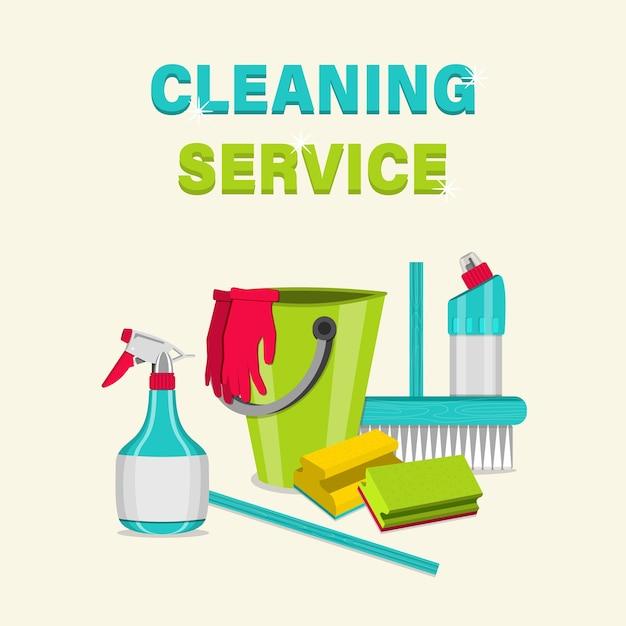 Предметы домашнего обихода для уборки. Premium векторы