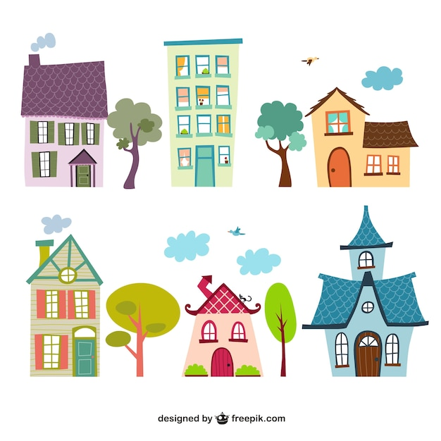 Building A New House Cartoon : Houses cartoons vector free download