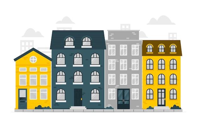 Housesconcept illustration Free Vector