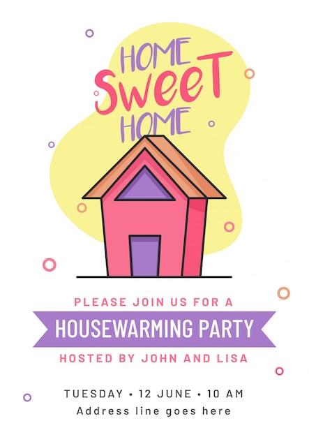 Housewarming Party Invitation Card Design Vector