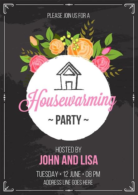 Housewarming party invitation card design Vector | Premium Download