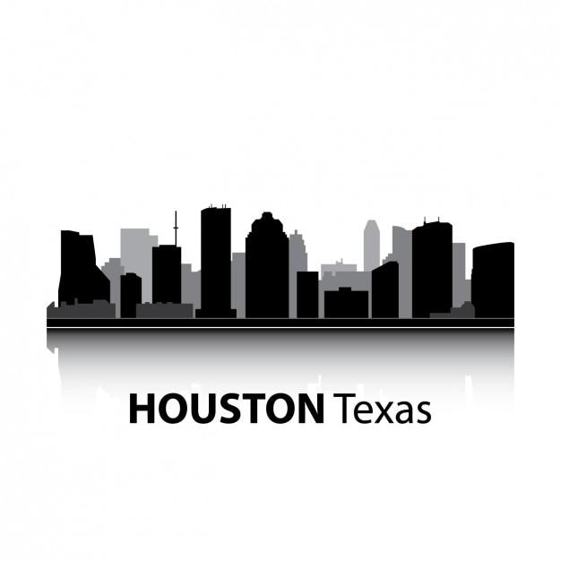 ヒューストンのスカイラインのデザイン 無料ベクター