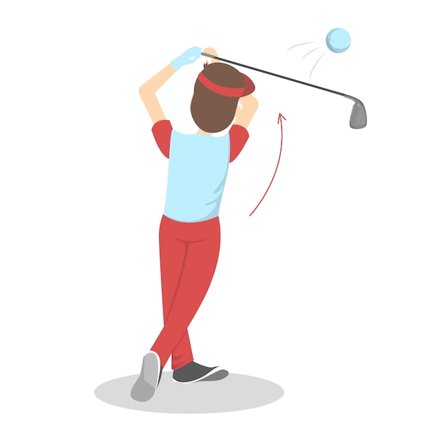 How to play golf guide for beginners Premium Vector