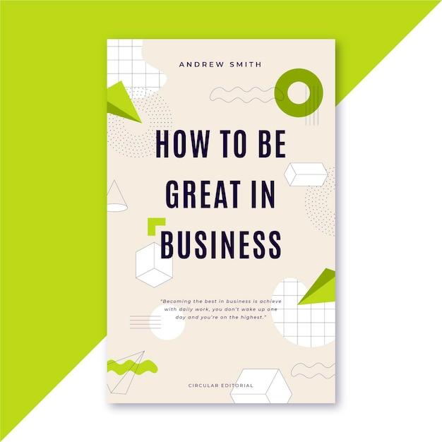 Как быть отличным в шаблоне обложки деловой книги Бесплатные векторы