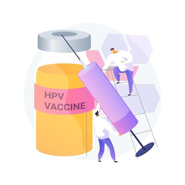 Illustrazione di vettore di concetto astratto di vaccinazione hpv. protezione contro il cancro cervicale, programma di immunizzazione del papillomavirus umano, vaccinazione hpv, prevenzione dell'infezione metafora astratta. Vettore gratuito