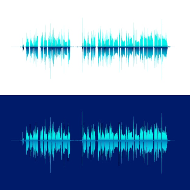 Hq vector sound waves. Premium Vector