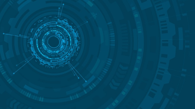 Hud abstract circle structure futuristic user interface Premium Vector