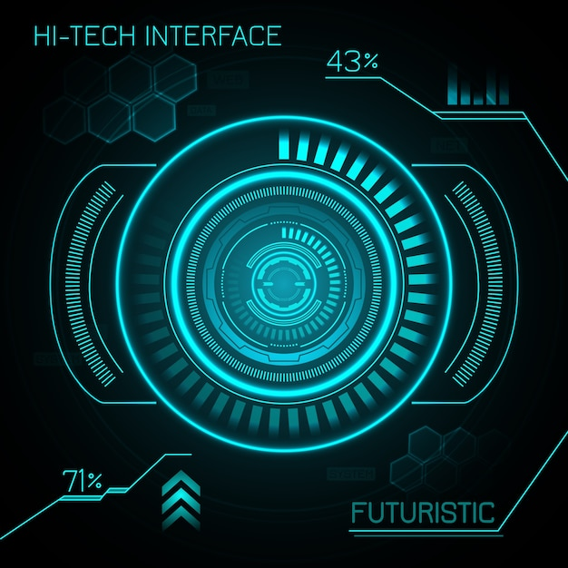 Hud Futuristic Background Free Vector