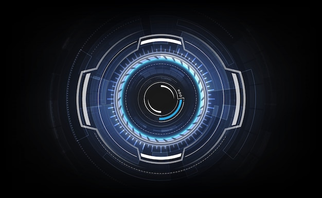 Hud interface gui futuristic technology networking concept template Premium Vector