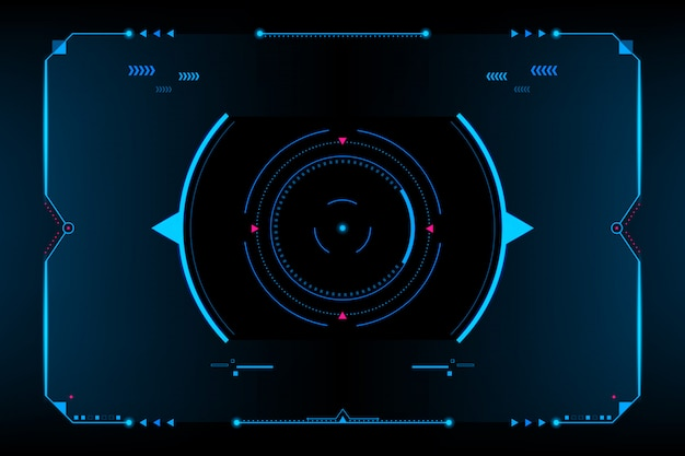 Hud panel vr user interface.futuristic concept.vector and illustration Premium Vector