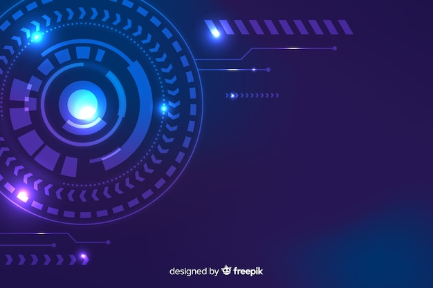 Hud technology background abstract style Free Vector