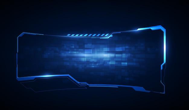 Элементы экрана футуристического пользовательского интерфейса hud, ui, gui. высокотехнологичный экран для видеоигр. научно-фантастический концептуальный дизайн. Premium векторы