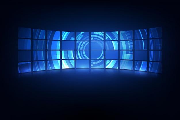 Абстрактный фон дизайн виртуального дизайна hud ui gui будущего футуристический экран Premium векторы