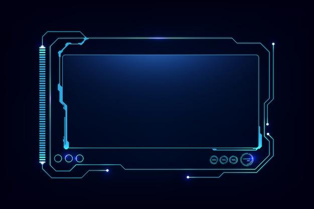 抽象hud ui gui未来未来的なスクリーンシステム仮想設計 Premiumベクター