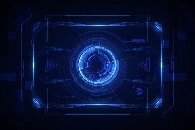 Абстрактный фон виртуальной системы будущего hud ui gui будущего экрана Premium векторы