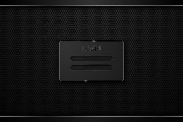 ログインテンプレートhud uiこんにちはハイテクデザインコンセプトの背景。 Premiumベクター