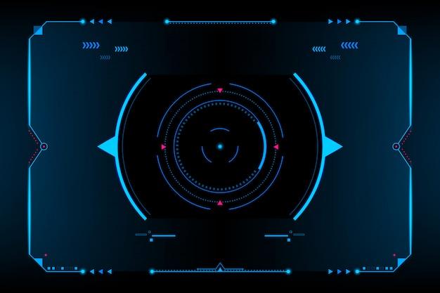 Hud панель vr пользовательский интерфейс. футуристическая концепция. вектор и иллюстрация Premium векторы