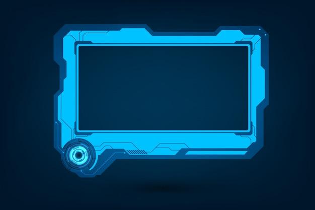 Hudの未来的なユーザースクリーンコントロールインターフェースセット Premiumベクター
