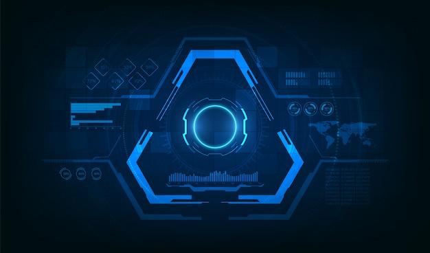 三角形の未来的なhudの背景 Premiumベクター