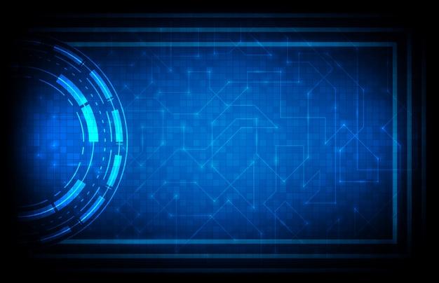 Абстрактная предпосылка голубого футуристического интерфейса интерфейса научной фантастики hud Premium векторы