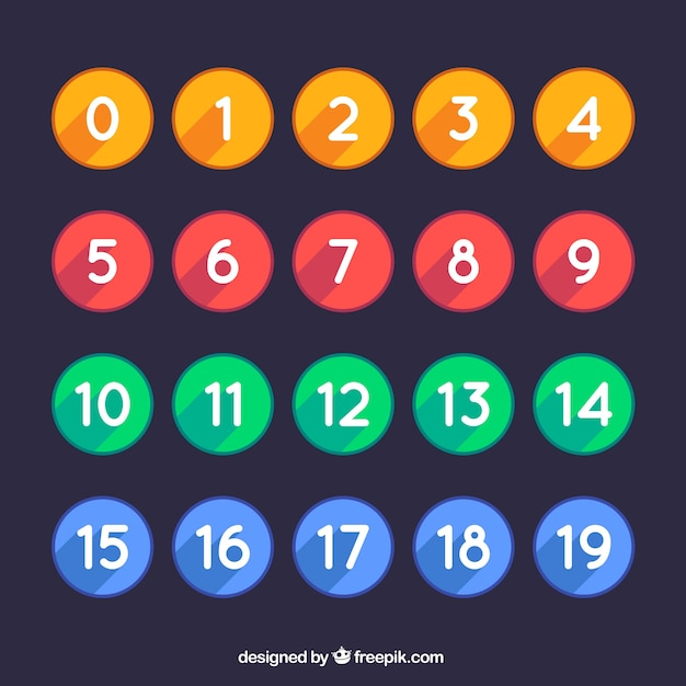 Huge number collection Free Vector