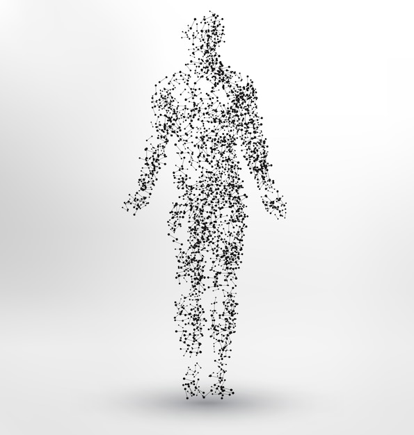 Human body shape background design Free Vector