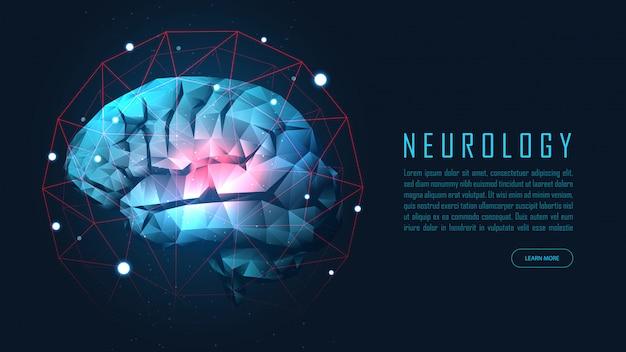 Human brain health Premium Vector
