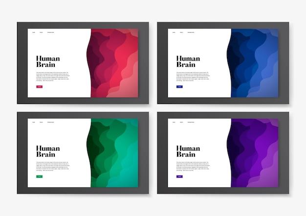 Human brain informational website graphic Free Vector