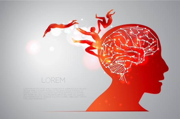 Human brain and its capabilities Premium Vector