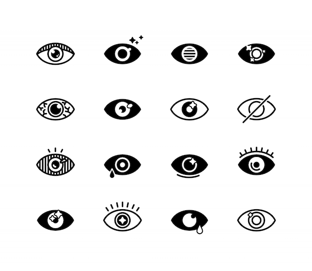 Human eye set Free Vector