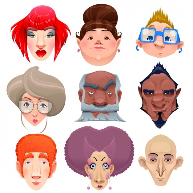 Human face vector free download - photo#8