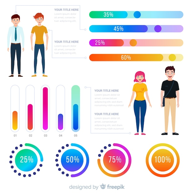 Human infographic Free Vector