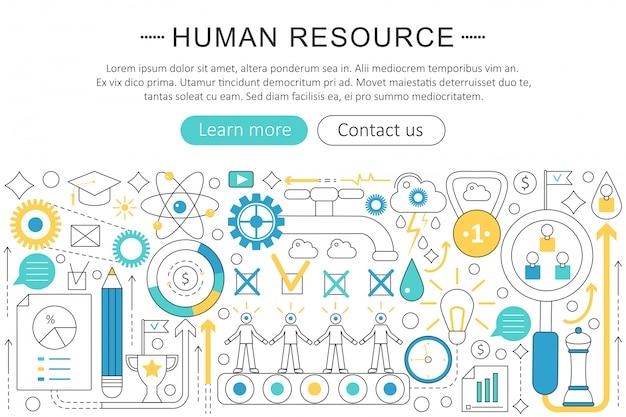 Human resource concept Premium Vector