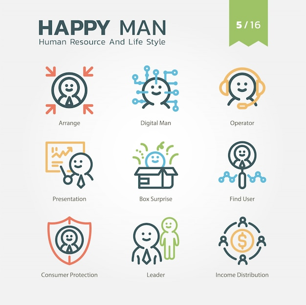 Human resource and lifestyle collection vol.5/16 Premium Vector