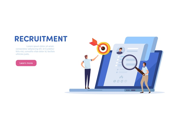 Human resource  recruitment. Premium Vector
