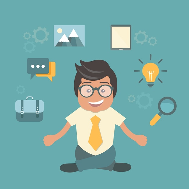 Human resource and self employment Free Vector