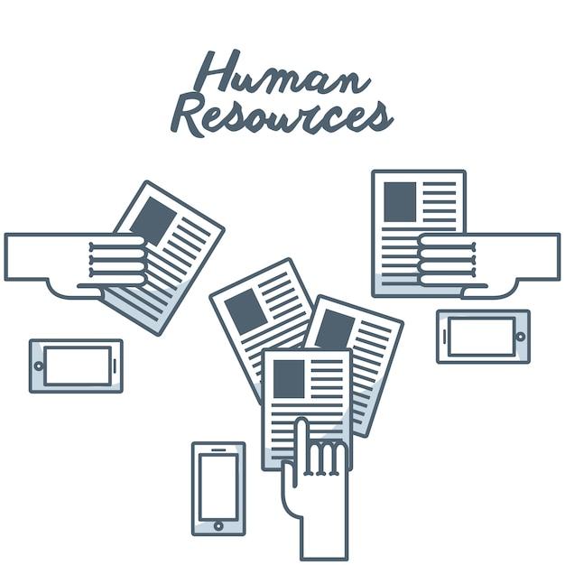 Human resources concept isolated icon Premium Vector