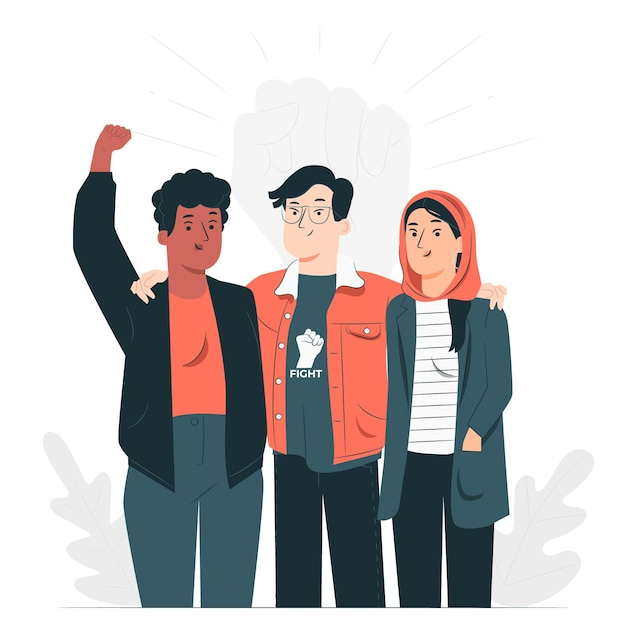 Human rights day concept illustration Free Vector